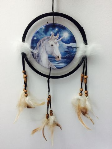 Printed DREAM CATCHER Small Diameter 9cm - Unicorn Single
